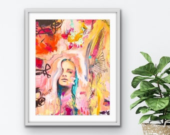 Premium Poster Fly, Vallentimi Art Prints, Art Prints and Pictures, Abstract Portrait