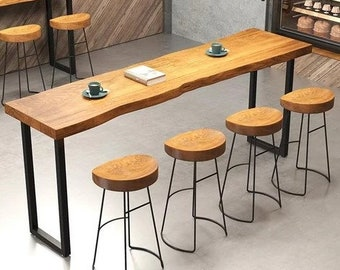 Industrial Bar Table Etsy