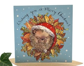 Christmas Hedgehog, Christmas card pack