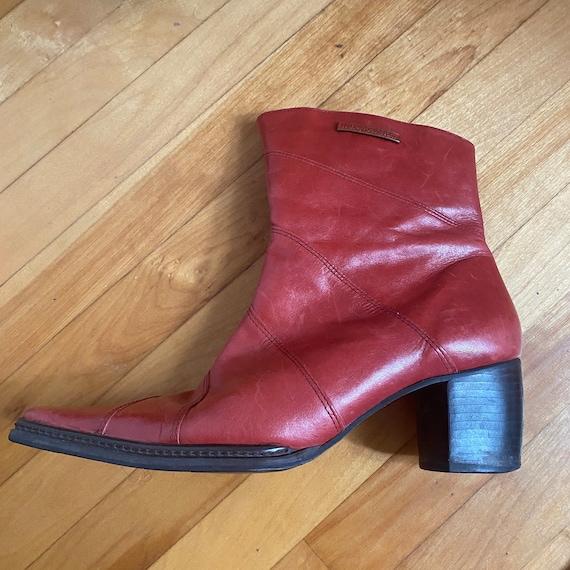 red harley davidson cowboy ankle boots - image 7