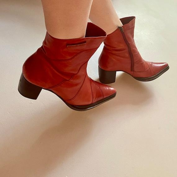red harley davidson cowboy ankle boots - image 1