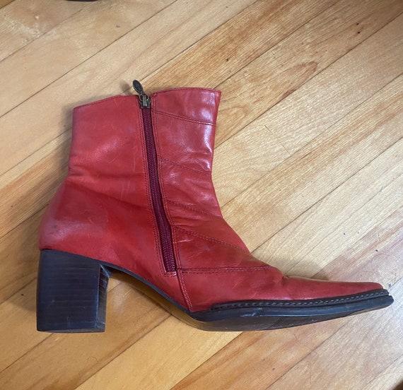 red harley davidson cowboy ankle boots - image 5