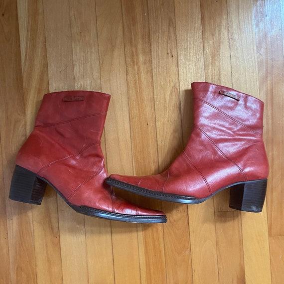 red harley davidson cowboy ankle boots - image 2