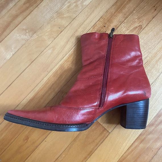 red harley davidson cowboy ankle boots - image 6