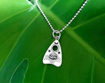 Choice of Stainless Planchette Design w Vintage Bohemian Glass Cabochon n choice of colors Necklace Oe Buy2Special