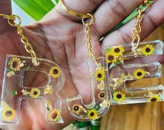 Sunflower Resin Keychain |Sunflower Keychain | Resin | Sunflower Lovers Keychain | Personalized Gift