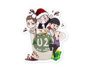 U2andcoffee Christmas edition | stickers