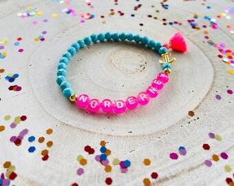 Pearl Bracelet Bracelet Lettering Customizable Gift Tassel Tassels