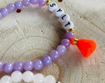 Sylt Bracelet Jade Tassel Pearl Bracelet Tassel Gold