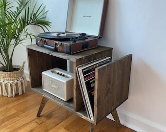 Table For Record Player Stand Cabinet MCM Mid Century Modern