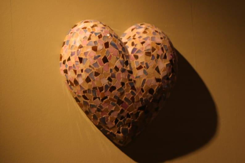 Dimensional Glass Mosaic Heart