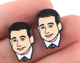 Dwight Schrute Earrings Funny Gifts Stud Earrings Pop Culture Gifts Funny Earrings Gifts for Her The Office Earrings