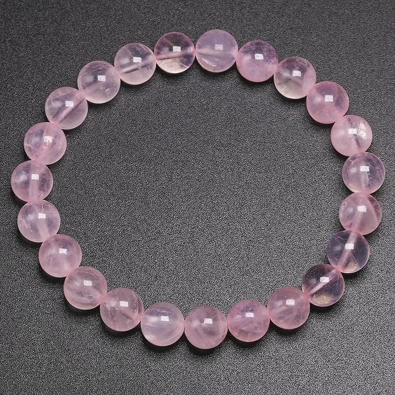 Natural Rose Quartz Stone Bracelet,Natural Gemstone Beads Bracelet For Women AAA Quality,6810 mm size,Round bracelet,Jewelry making