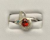 Astounding Natural Top Color Spessartite Garnet Ring Solid 925 Sterling Silver