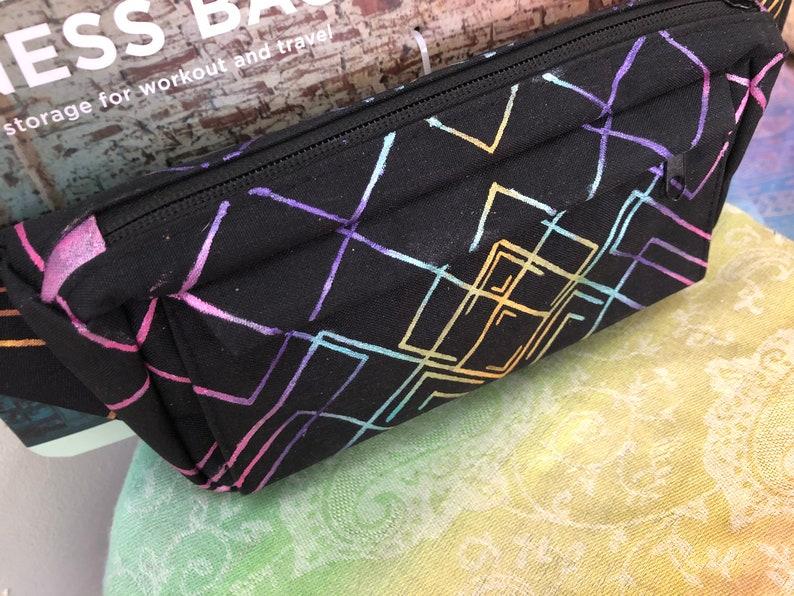 Psychedelic Fanny Pack Fractal Rainbow Festival Bag