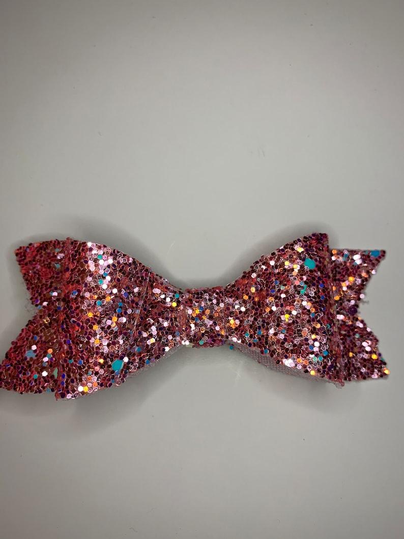 Hair Bow Glitter Bow Glitter Hair Bow Mini Glitter Hair Bow Hair Clip