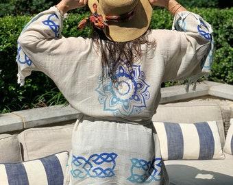 Handmade Linen Kimono Robe for Women One Size | Swimwear for Women, Swimsuit Coverup, Sundress, Linen Dress, Linen Plus Size Clothing