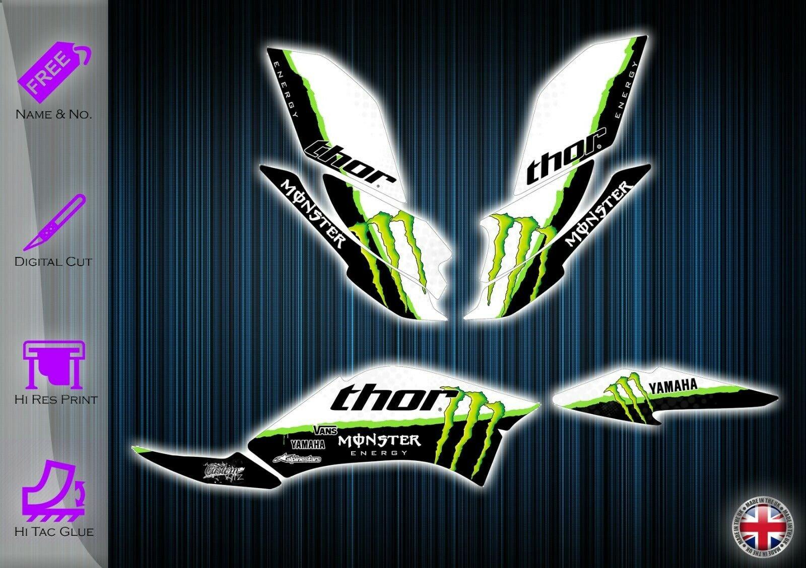 graphics kit Yamaha raptor 250 stickers decals yfm 250 atv graphics kit