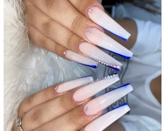 Long Coffin Nails Etsy