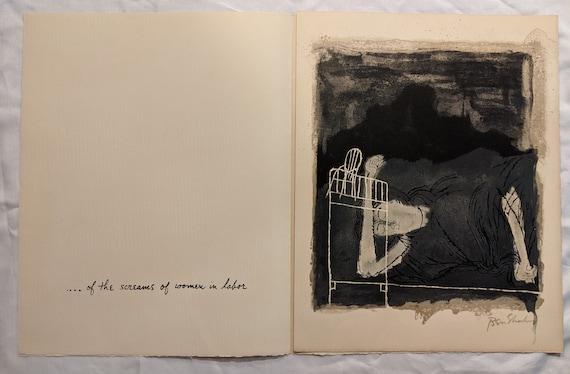 1898-1969 BEN SHAHN \u201cScreams of a Woman in Labor\u201d Rilke Portfolio