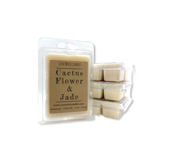 Cactus Flower and Jade scented 100% soy wax melt cubes tarts