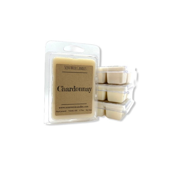 Chardonnay wine scented 100% soy wax melt cubes tarts