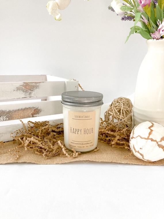 Happy Hour Mint Mojito 100% soy wax handmade glass jar 8oz candle