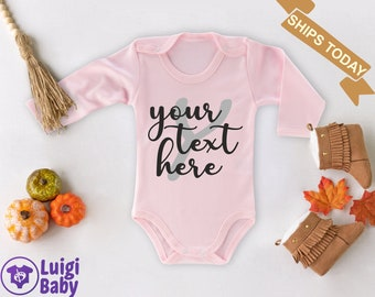 LONG SLEEVE Personalized Baby Girl Bodysuit Create Your Own
