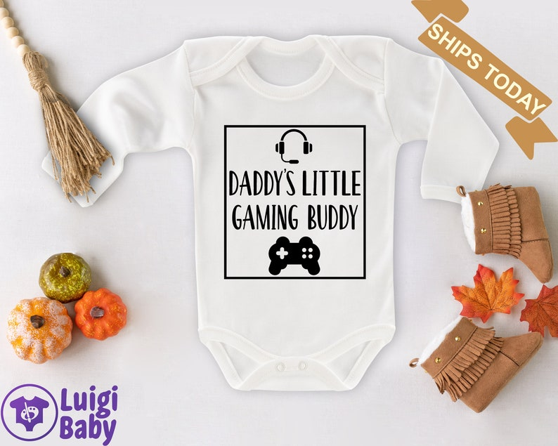 Babygirl Onsie Baby Boy Clothes Baby Clothes Baby Onesie Game Onesie Baby Girl Custom Onsy Daddy Gaming Buddy Funny Baby Clothes