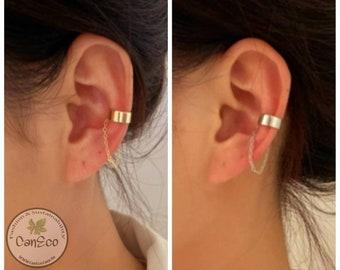 Tassel Chain Ear Cuff, Ear Cuff with Chain, No piercing Earrings, Non-piercing with Chain, Ear Cuff, No Piercing Earrings, Ear Cuff Chain