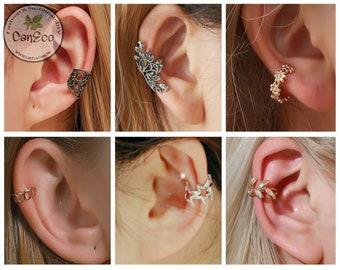 Ear Cuff No Piercing, No Piercing, Silver Ear Cuff, Rose Gold Ear Cuff, Fake Helix Piercing, Dainty Ear cuffs, unique gifts