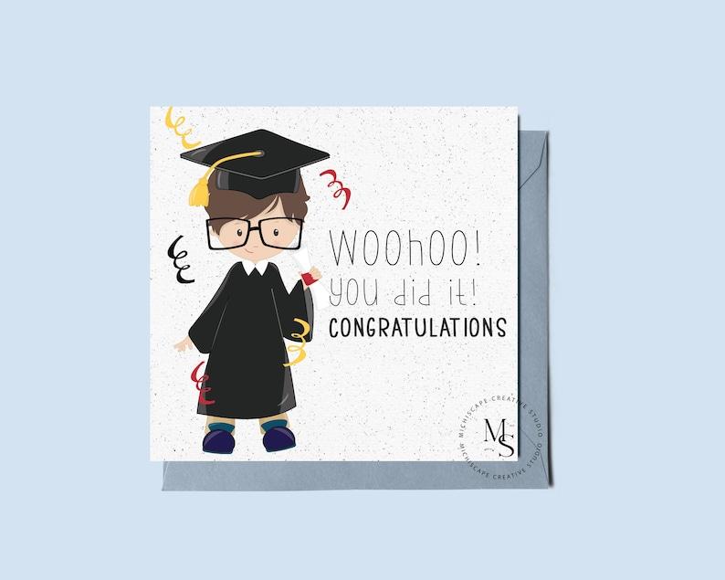 Printable Graduation Card Congratulations Card Card for image 0