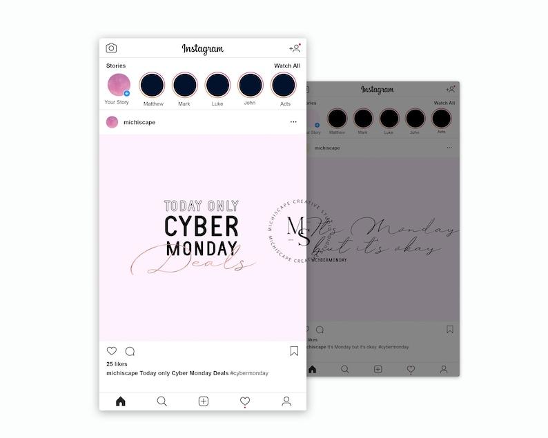 Instagram Graphics Cyber Monday Graphics InstaPosts Digital image 0