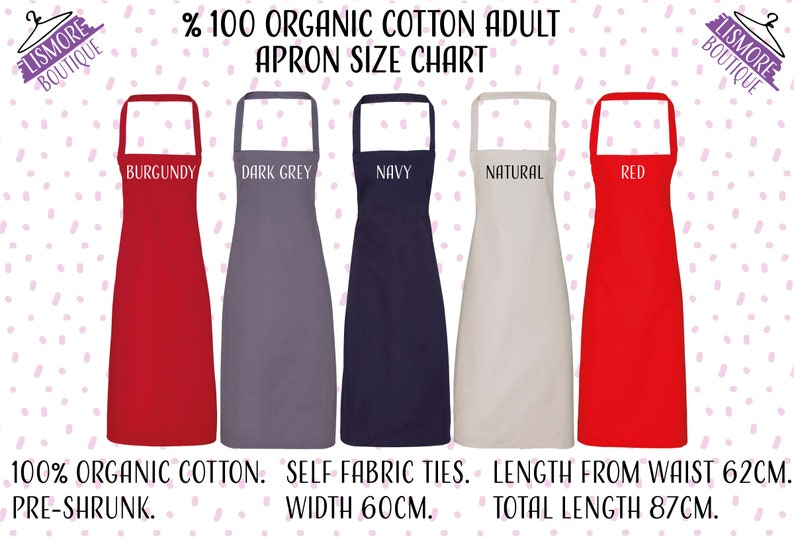 Personalized Kitchen Apron Custom Baking Apron Birthday Gift For Mother Personalised Cooking Apron Custom Adult And Kids Name Apron