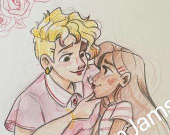 Original Artwork - Couple in love