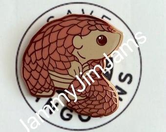 PANGOPIN. Limited edition pin to help save Pangolins