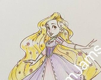 Original Artwork - Rapunzel