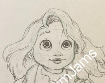 Original Artwork - Baby Rapunzel