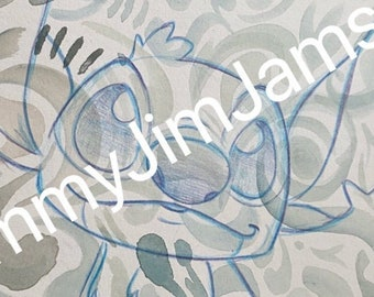 Original Artwork - Stitch and watercolour patterns