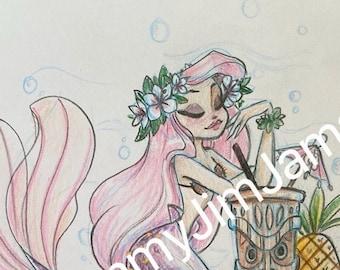 Original Artwork - Mermaid Tikki lounge