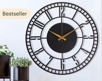 Oversized Wall Clock Etsy