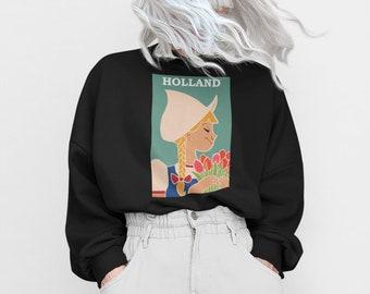Holland Sweatshirt, Netherlands Gift, Aesthetic Sweatshirt, Travel Sweatshirt, Netherlands Sweatshirt, Holland Tulips, Holland Souvenir