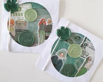 Journal Supplies - Journal Stickers - 25pcs - Mixed Ephemera -  - Junk Journal Decoration Kit - Sticker Pack- Journal Paper