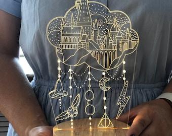Harry Potter lamp - Table Night Lights - custom housewarming gift for friends night light hogwarts