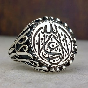 Death is enough to person as an advice written Ring for Men  Islamic Silver Ring  Ottoman Calligraphy Ring  Medieval Jewelry