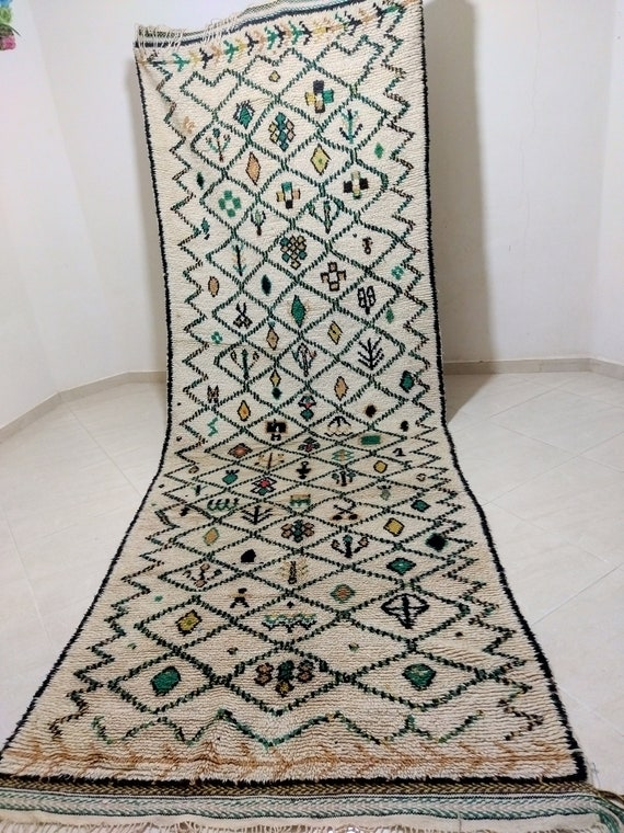 An old and long imitation carpet for use at the entrance to the house, Old Moroccan carpet, old style carpet