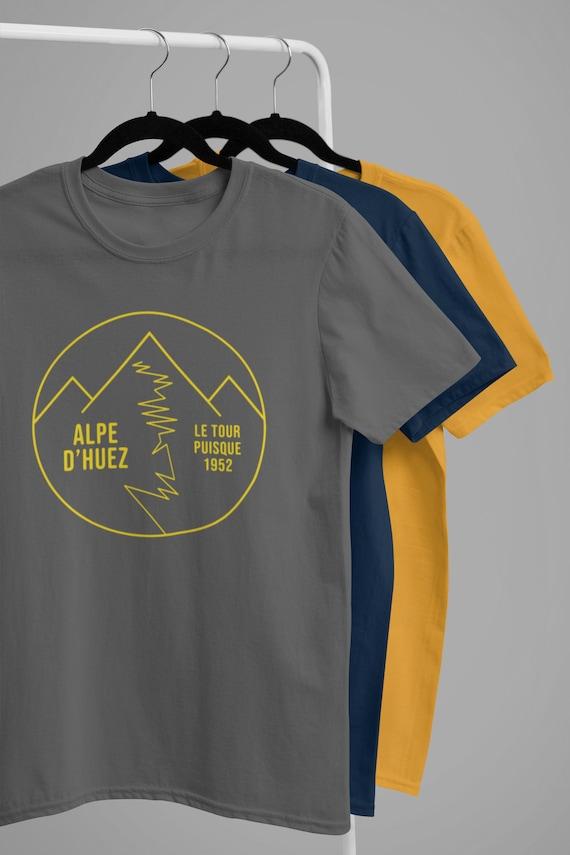 Velo t-shirt Men/'s cycling gifts Cycling clothing Retro cycling t-shirt T-Shirts Cycling t-shirt Alpe d/'Huez t-shirt Cycling