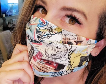 Travel Theme Face Masks