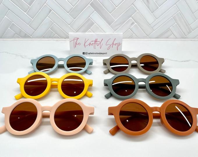 Unisex Kids Retro Polarized Round UV400 Sunglasses