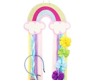 Rainbow Color Hair Bow Holder